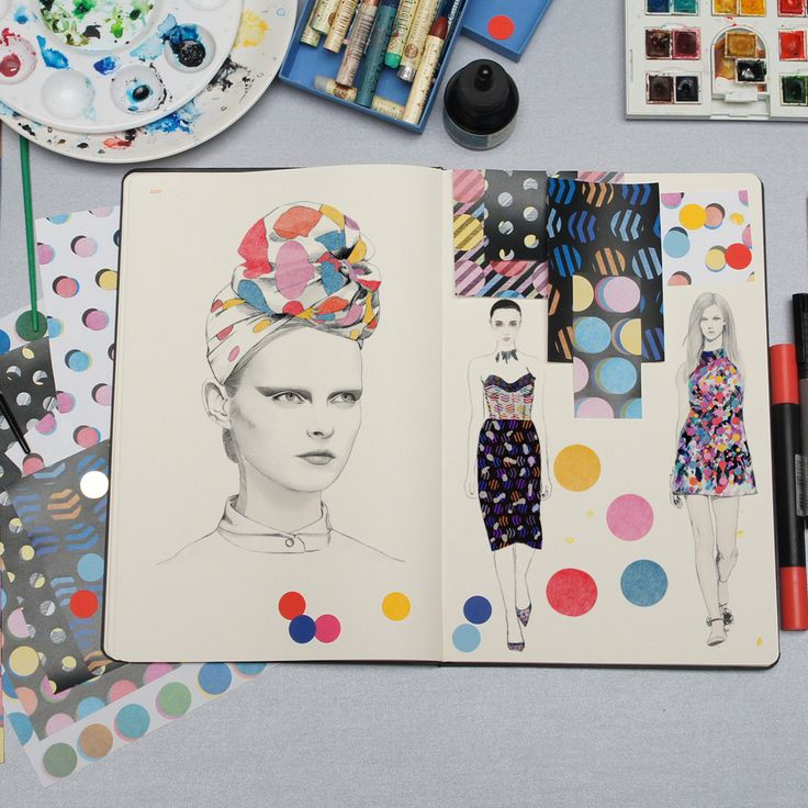 Fashionary Hand - A Fashion Illustration Blog #art #journal #sketchbook