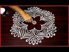 beautiful rangoli designs with 5x3 dots for beginners || simple kolam designs || chukkala muggulu - YouTube