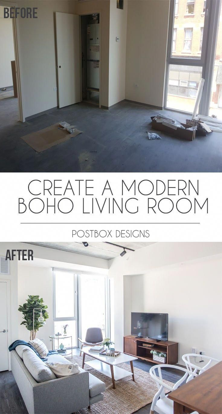 postbox designs interior e design modern boho living room makeover rh pinterest com