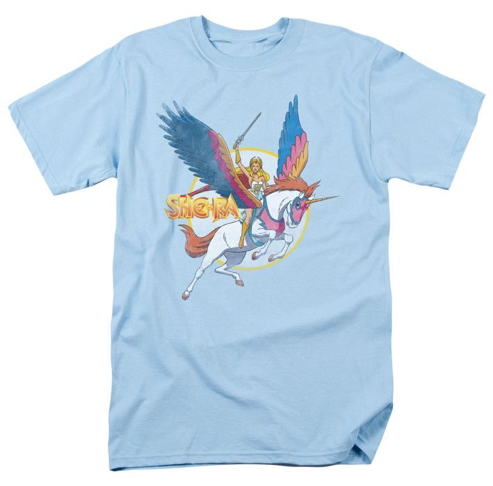 She Ra t-shirt And Swiftwind mens light blue