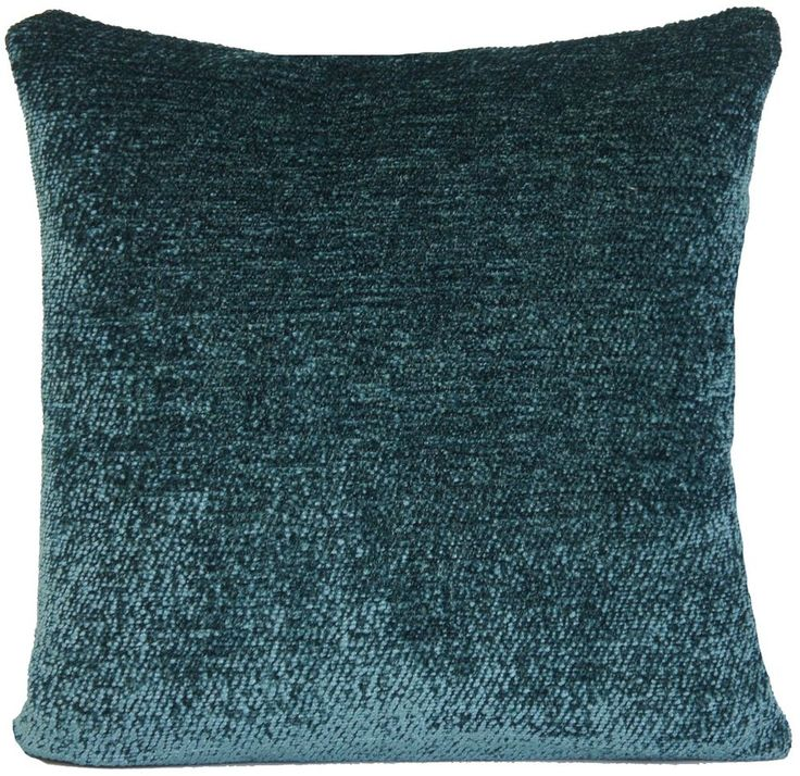 Teal Cushion Cover Plain Pillow Case Velvet Lorca Fabric in Home, Furniture & DIY, Home Decor, Cushions | eBay