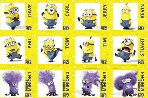 Minions with their names | Minion Birthday | Pinterest ...