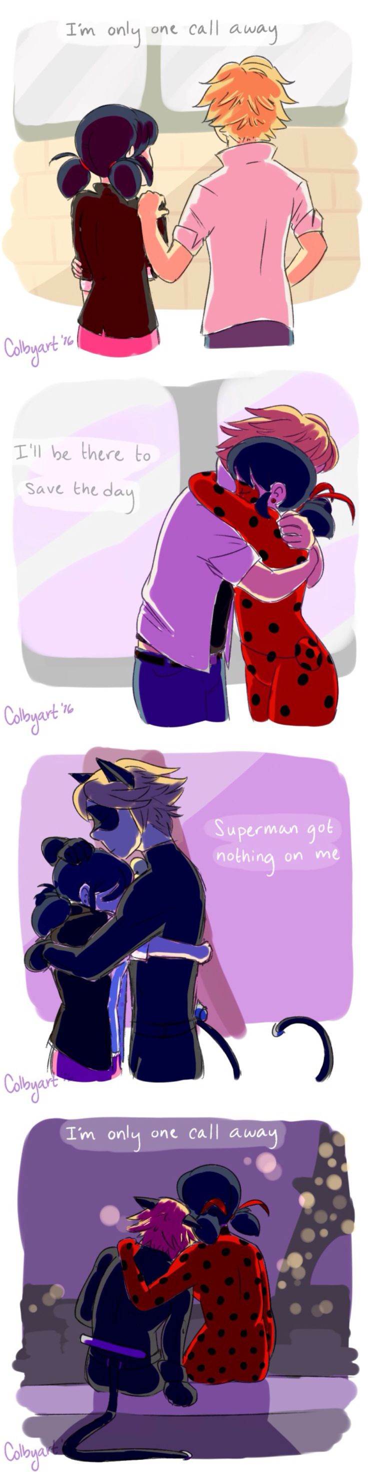 Miraculous Ladybug & Chat Noir - I'm only one call away      Marinette Adrien Agreste Chat Noir Cat Noir Ladybug Adrinette Ladrien Marichat Lady Noir