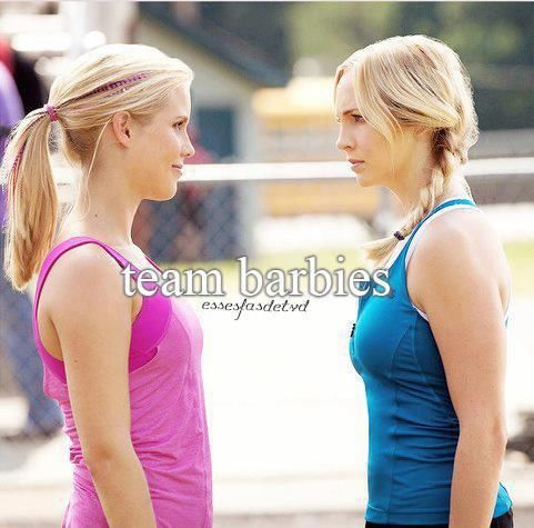 Team barbie. Rebekah Mikaelson and Caroline Forbes. I'm definitely in ;-)