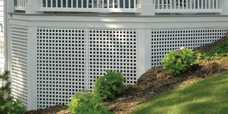 Porch Skirting With Dimensions White Square Privacy
