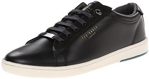 $130, Black Leather Low Top Sneakers: Ted Baker Theeyo Fashion Sneaker. Sold by Amazon.com. Click for more info: http://lookastic.com/men/shop_items/146230/redirect