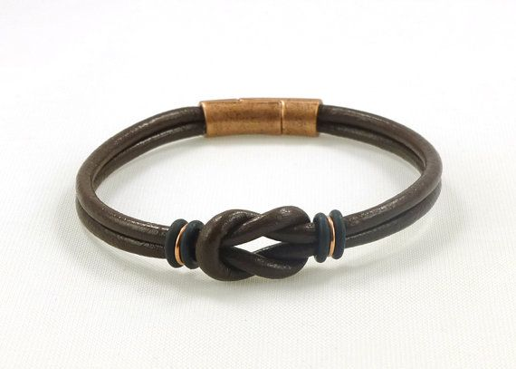 Unisex Brown Copper Mini Celtic Infinity Knot by siriousdesign