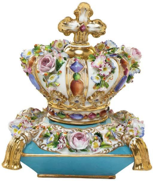 A Jacob Petit Porcelain Flower Encrusted Scent Bottle and Stopper 19th Century.