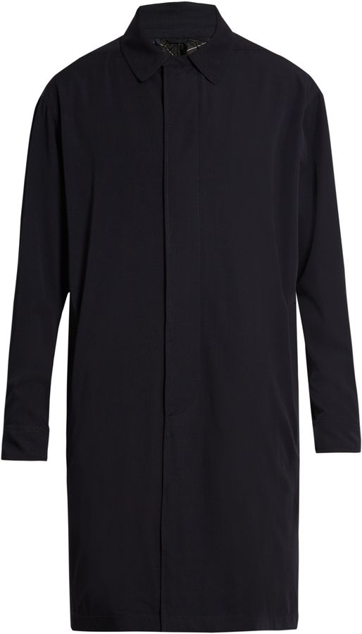 LANVIN Point-collar wool overcoat