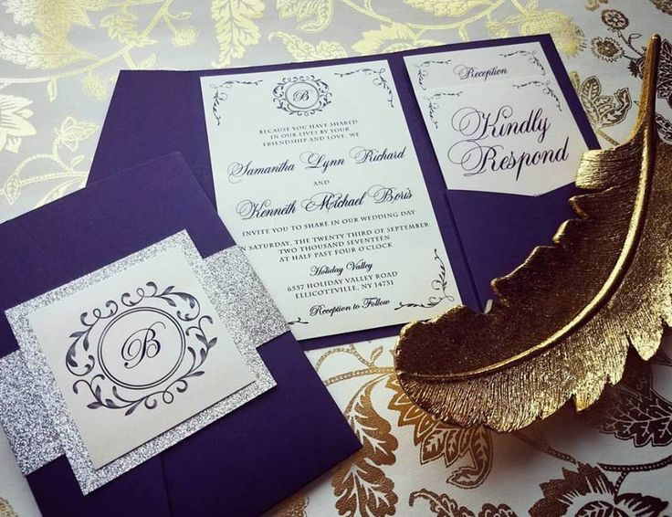 Silver And Purple Wedding Invitations: 25+ Best Purple And Silver Wedding Ideas On Pinterest