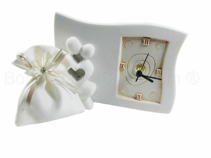 Scultura Orologio innamorati stilizzati con scatola di serie