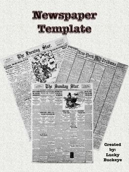 What are the different parts of a newspaper article?