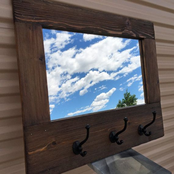 charming cabin coat rack. Barn wood style Mirror Rustic Coat Rack Wall Hall Tree with Hooks Reclaimed  wooden 13 best images on Pinterest stands Clothes racks Charming Cabin Home Design Plan
