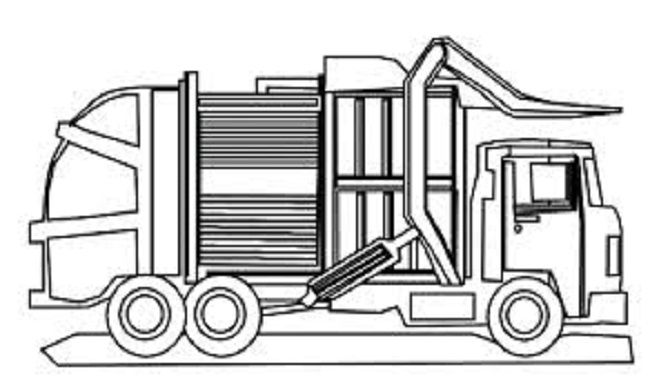coloring pages garbage truck | 41 best Garbage Truck Crafts images on Pinterest | Crafts ...