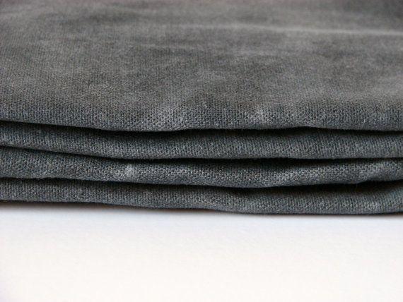 Hand Waxed Canvas Fabric  Graphite Grey 1 Yard by ALFrancesDesigns, $21.00