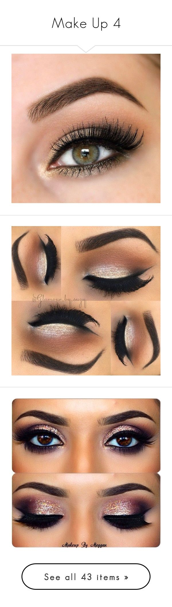 """""""Make Up 4"""" by the-walking-dez ❤ liked on Polyvore featuring beauty products, makeup, eye makeup, eyes, beauty, make, eyeshadow, palette eyeshadow, eye brow makeup and gel eye liner"""