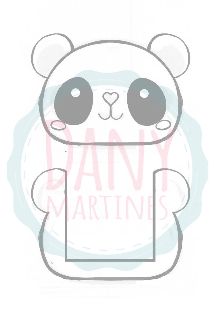 Molde Panda - Apoiador de celular | Assista o tutorial: https://www.youtube.com/watch?v=Y83-z20vViU