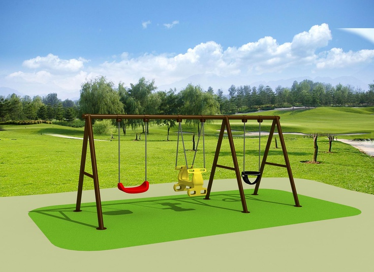 KINDY PAK Swing set - New swing sets ready for those kids who want to play all day          4800 x 1500 x 1900  $1057.00 Visit us at www.playcubb.com.au