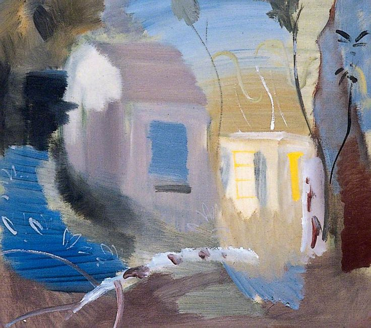 Ivon Hitchens, House Among Trees, 1943, Oil on canvas Lucas Bequest (1995), © Estate of Artist