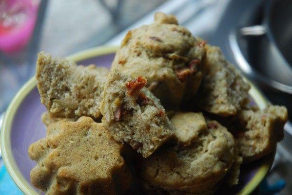 Muffin salati - basilico olive pomodori secchi