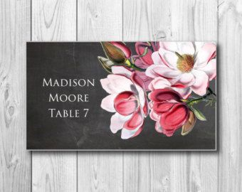 Printable Wedding Place Cards - Vintage Floral Wedding Place Cards - Rustic Wedding - Vintage Wedding - INSTANT DOWNLOAD - Microsoft Word