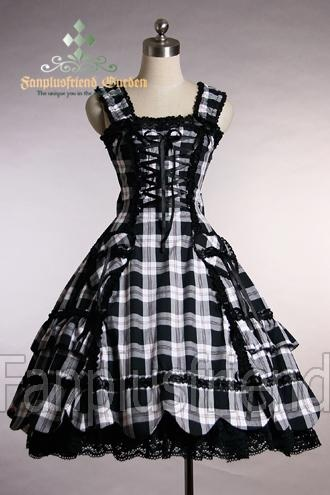 I found 'Black And White Gothic Dress' on Wish, check it out!