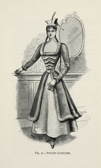 Polish Costume from 'Fancy Dresses Described; or, What to Wear at Fancy Balls,' by Hold, Ardern, 1896