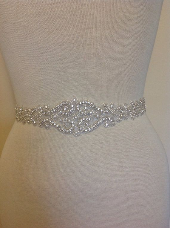 All Around Beading Bridal Belt Wedding Sash Crystal Dress Jeweled Rhinestone