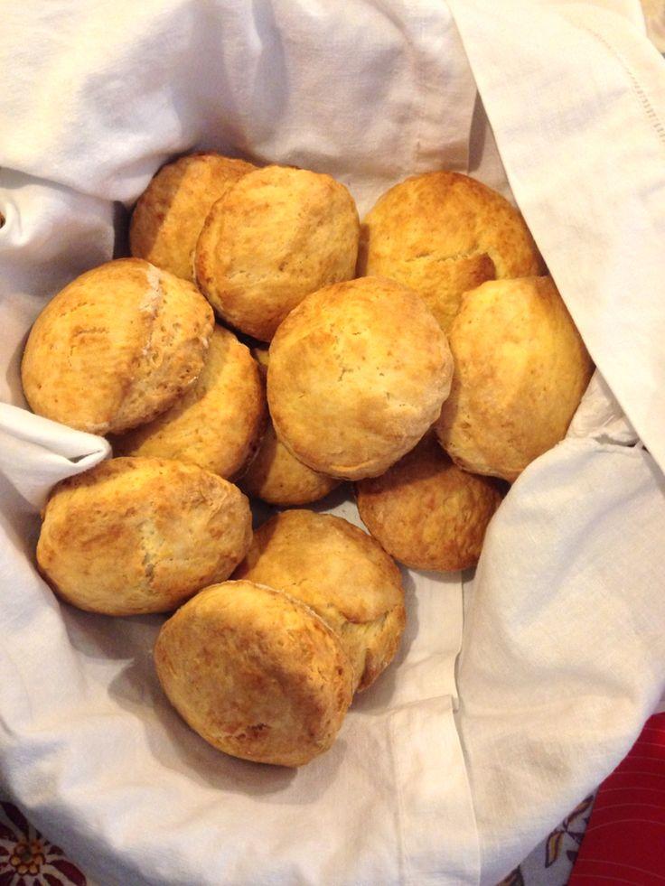 Sweet scones for breakfast.