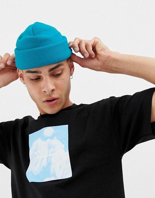 782145997 DESIGN mini fisherman beanie in bright blue in 2019 | Hats/Beanies ...