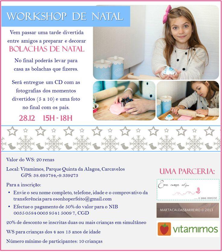 Christmas cookies workshop by Era uma vez, featuring Marta Barreiro and Vitamimos. Read more: http://eraumavez-osonhoperfeito.blogspot.pt/2013/12/workshop-de-bolachas-de-natal.html