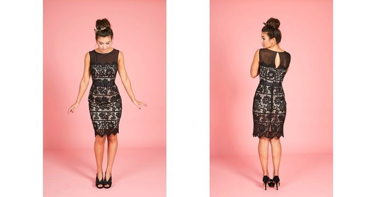 Zuzi Lace Pencil Dress - SilkFred