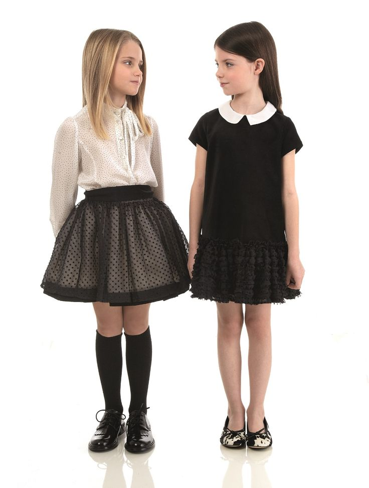 Fendi Kids Fall/Winter 2014-15 Collection. Peter Pan collar, Black dress