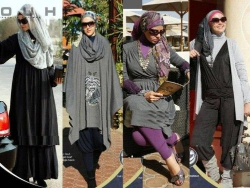 winter gray hijab