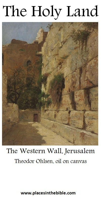 The Western Wall (Wailing Wall) is the most famous remain of King Solomon's Temple in Jerualem.
