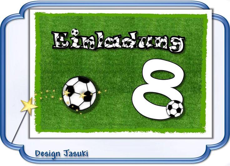 Perfekt Einladungskarte Kindergeburtstag Mit Umschlag, Motiv Fußball 1