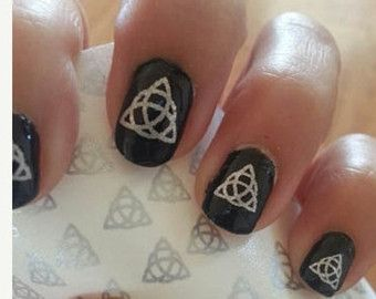 Mer enn 25 bra ideer om supernatural nails p pinterest 22 supernatural nail art decals sup anti by northofsalem on etsy prinsesfo Image collections