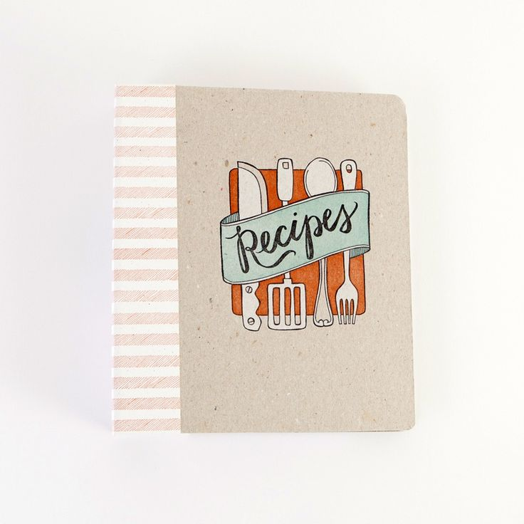 Keep your recipes organized in this fun binder.