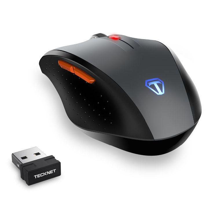 TeckNet Pro 2.4G Ratón Inalámbrico Nano Receptor 6 Botones 4800 DPI 6 Niveles de Ajuste Para El Ordenador Portátil PC de Escritorio