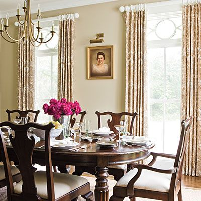 Lovely, traditional dining room.