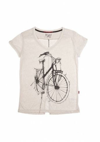 10 FEET bicyclette T-shirt Greige - T-shirts - MaMilla