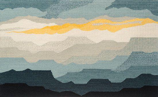 Tapestry Artist Linda Giesen: Blue Mesas