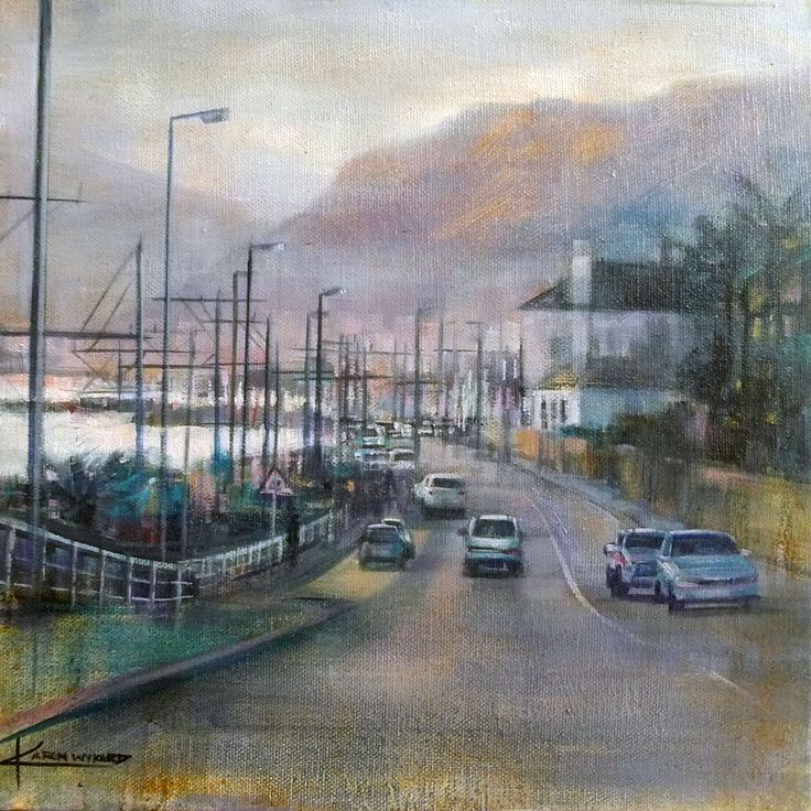 Cape Town cityscape paintings - 'St James' by Karen Wykerd