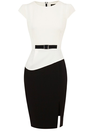 Ronnie Peplum Color Block Dress