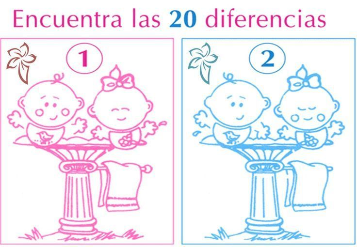 Juego de diferencias para baby shower | Manualidades para Baby Shower