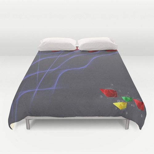 Boat Duvet Cover Personalized Color  Full Queen King  by xkbeth