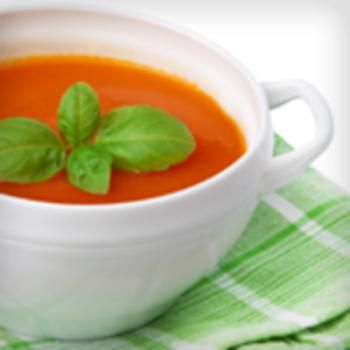 Romige tomaten basilicum soep