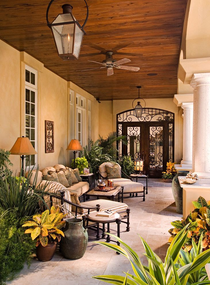 17 best images about i wish dream home on pinterest for Mediterranean front porch designs