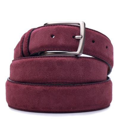 Suede riem: Aubergine by ColorMeSocks™