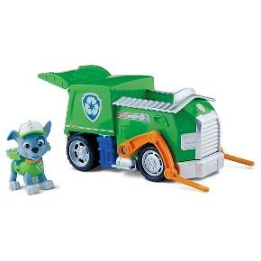 Race to the ruff-ruff rescue with Rocky and his Recycling Truck! This pup and vehicle combination is loaded with real working wheels, a pivoting forklift and rear compartment that opens and closes! Reduce, reuse and recycle with Rocky and the rest of the Paw Patrol by collecting the entire line of Paw Patrol vehicles! Together, your child's imagination will be lit up with pup inspired rescue missions full of friendship, teamwork and bravery. Choose from Chase, Marshall, Zuma, Skye, ...
